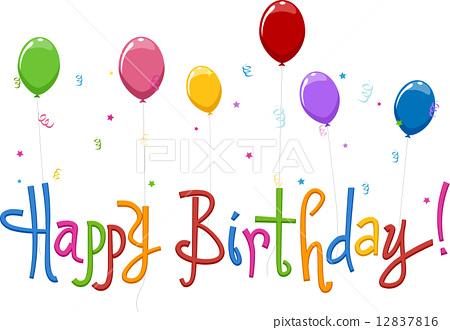 Happy Birthday Text 12837816