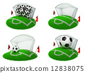 Soccer Concepts - Set of 3D Illustrations. 12838075