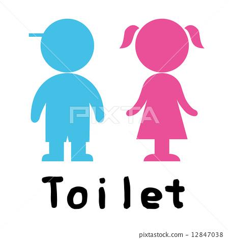 厕所标志 12847038