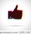拇指 伸出大拇指 图标 12851182