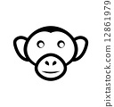 ape, animal, monkey 12861979