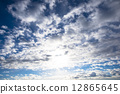 Blue sky and clouds 12865645