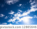 Blue sky and clouds 12865646