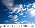 Blue sky and clouds 12865647