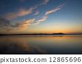 Sunset of Lake Saroma 12865696