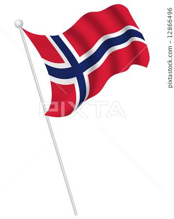 挪威國旗國旗 12866496