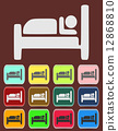 Icon, Button, Pictogram with Hotel 12868810
