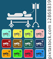 Illustration of Life icons, hospitalized  12868839