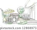 terrace, terraces, outdoor party 12868973