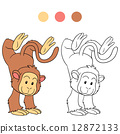 coloring, monkey, book 12872133