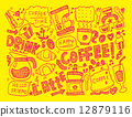 doodle coffee 12879116