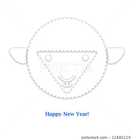 Sheep. New year card. Vector illustration 12880129