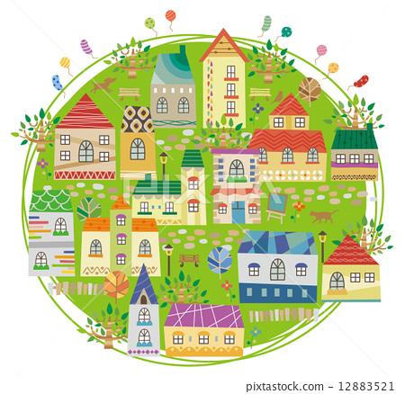 แผนที่,เมือง,อาคาร 12883521