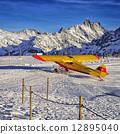 山峰 阿尔卑斯山脉 黄色 12895040