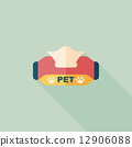 Pet style tissue case flat icon with long shadow,eps10 12906088