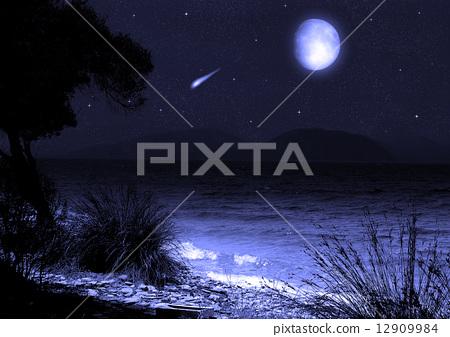 moon in the night sky 12909984