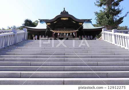 """高松市宮崎鎮高鬆的神社""""Shikio八幡宮"""" 12912275"""