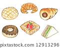 麵包 糕點 蜜瓜包 12913296