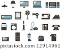 家用電子產品圖標集 12914961