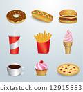 set of fast food 12915883