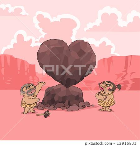 Valentine's Day in Stone Age 12916833