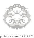 Traditional balinese mask. Barong.  12917521