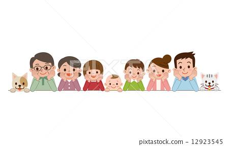 三代人 矢量 三代家庭 12923545