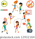 Icon set for active lifestyle, sport, nutrition 12932164