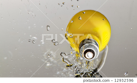 Yellow Light Bulb Splash Idea 12932596