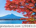 ภูเขาฟูจิในฤดูใบไม้ร่วง 12938313