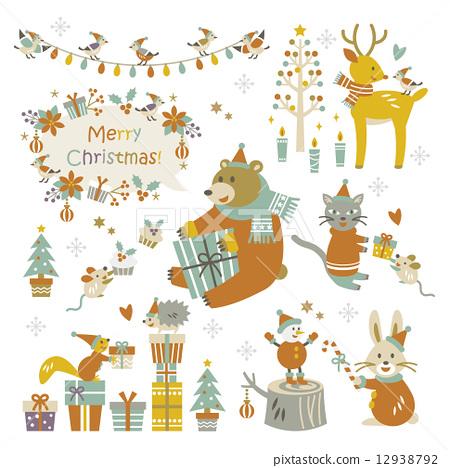 矢量 聖誕時節 聖誕節 12938792