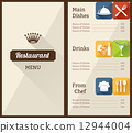 restaurant plate template 12944004