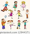 set, playing, drawn 12944371