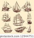 boat, sketch, ship 12944751