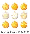 Set of christmas balls 12945132