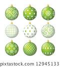 Set of christmas balls 12945133