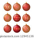 Set of christmas balls 12945136