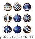 Set of christmas balls 12945137