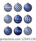 Set of christmas balls 12945138