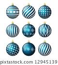 Set of christmas balls 12945139