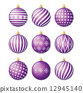 Set of christmas balls 12945140
