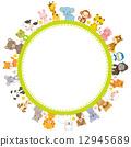框架 動物 圖框 12945689