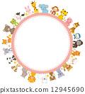 框架 動物 圖框 12945690