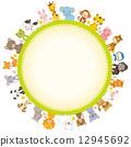框架 動物 圖框 12945692