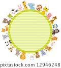 框架 動物 圖框 12946248