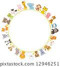 框架 動物 圖框 12946251