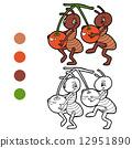 蚂蚁 着色 书籍 12951890