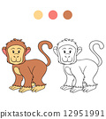 Coloring book (monkey) 12951991