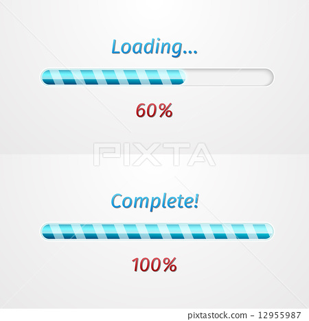 Blue loading bars 12955987