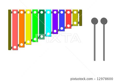 彩虹色的木琴 12978600